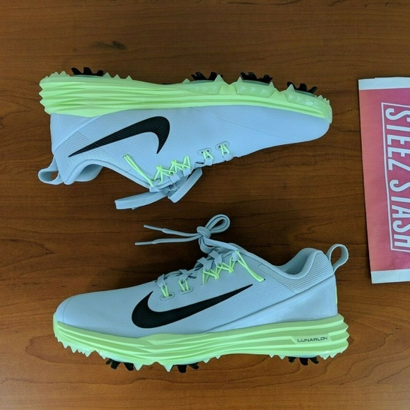 Nike Shoes Lunar Command 2 Womens Golf Grey Green Poshmark